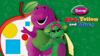 Netflix box art for Barney: Red, Yellow and Blue