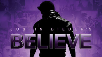 Netflix box art for Justin Bieber's Believe