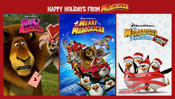 Netflix box art for DreamWorks Happy Holidays from Madagascar - Season 1