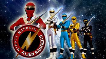 Netflix box art for Mighty Morphin Alien Rangers - Season 1