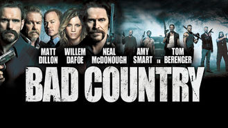 Netflix box art for Bad Country