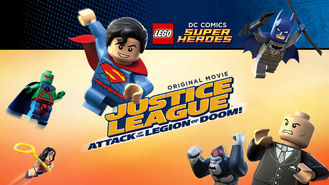 Netflix box art for LEGO: Justice League vs The Legion of Doom