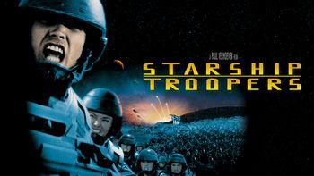Netflix box art for Starship Troopers