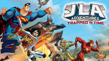 Netflix box art for JLA Adventures: Trapped in Time