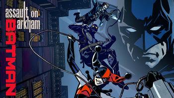 Netflix box art for Batman: Assault on Arkham