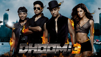 Netflix box art for Dhoom:3