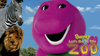 Netflix box art for Barney: Let's Go to the Zoo