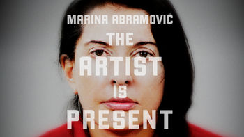 Netflix box art for Marina Abramovic: The Artist Is Present