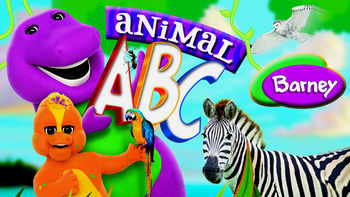 Netflix box art for Barney: Animal ABCs
