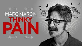 Netflix box art for Marc Maron: Thinky Pain