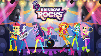 Netflix Box Art for My Little Pony: Rainbow Rocks