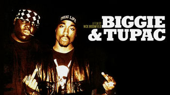 Netflix box art for Biggie & Tupac