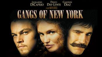 Netflix box art for Gangs of New York