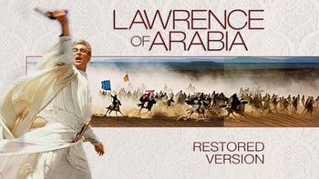 Netflix box art for Lawrence of Arabia: Restored Version