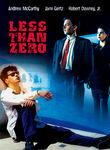 Less Than Zero Poster