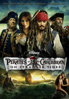 Netflix box art for Pirates of the Caribbean: On Stranger Tides