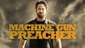 Netflix box art for Machine Gun Preacher