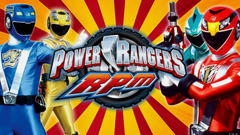 Netflix box art for Power Rangers RPM - Season 1